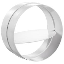 Conector interior circular plastic cu clapetă antiretur Ø 125 mm