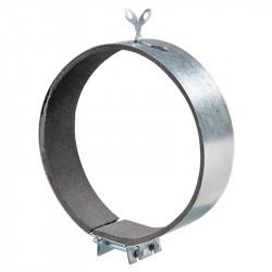 Colier fixare cu protecție cauciuc microporos Ø 100 mm