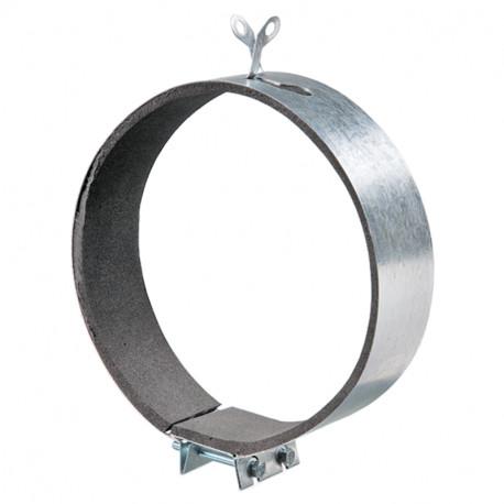 Colier fixare cu protecție cauciuc microporos Ø 200 mm