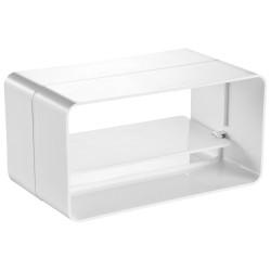 Conector rectangular exterior PVC cu clapetă antiretur 110x55 mm