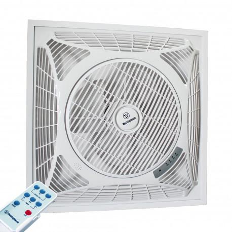 Ventilator la tavan fals cu telecomandă Westinghouse Windsquare 36 cm în culoare albă